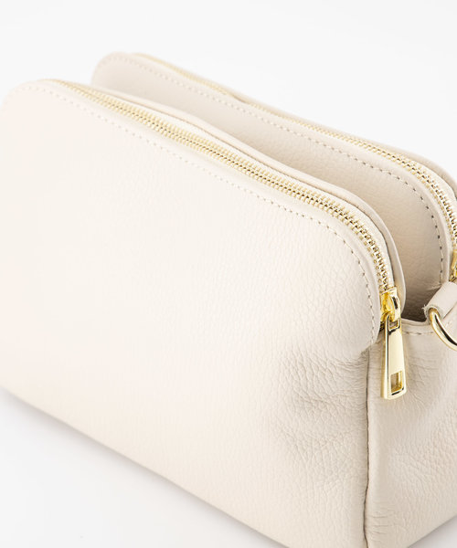 Simone - Classic Grain - Crossbody bags - White - D37 - Gold