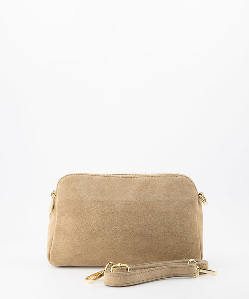 Simone - Suede - Crossbody bags - Beige - 4 - Gold