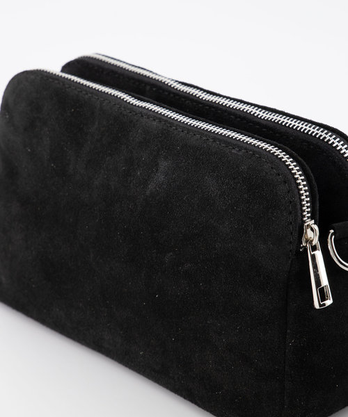 Simone - Suede - Crossbody bags - Black - 23 - Silver