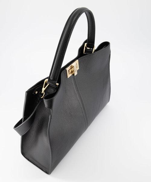 Noelle - Classic Grain - Hand bags - Black - D28 - Gold