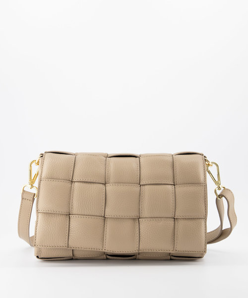 Bodina - Classic Grain - Crossbody bags - Taupe - D05 - Gold
