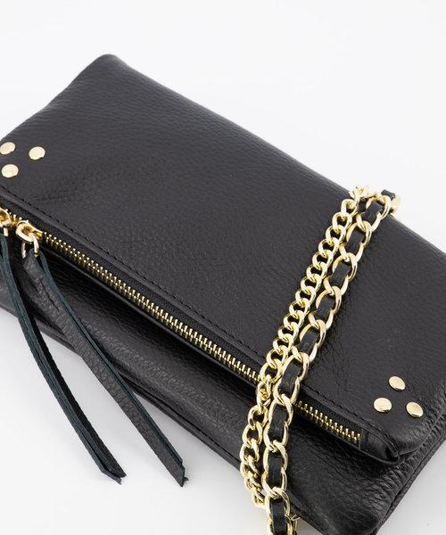 Volly - Classic Grain - Crossbody bags - Black - D28 - Gold