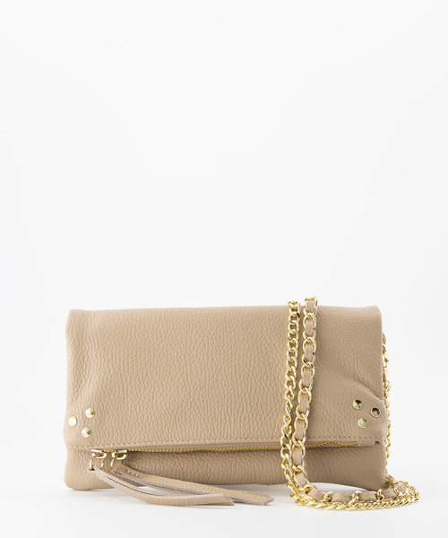 Volly - Classic Grain - Crossbody bags - Taupe - D05 - Gold