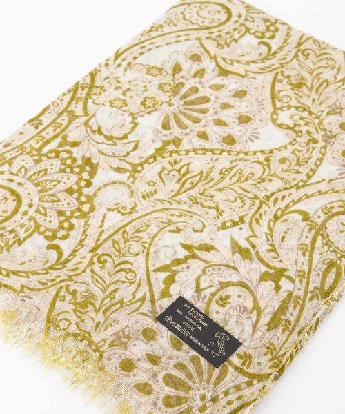 Delina - - Sjaals met print - Groen - Paisley