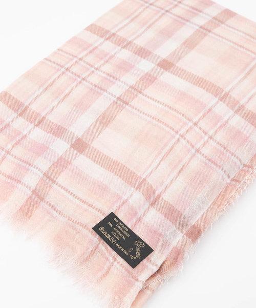 Delina - - Sjaals met print - Roze - Check