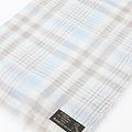 Delina - - Sjaals met print - Blauw - Check