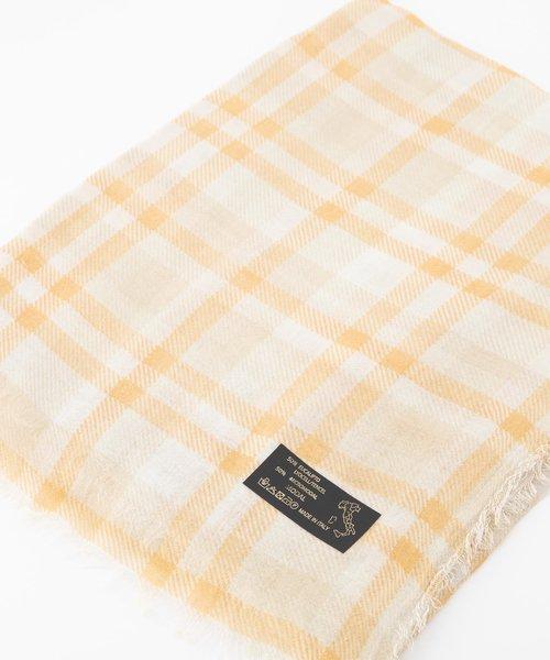 Delina - - Sjaals met print - Oranje - Check -