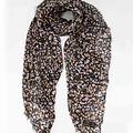 Delina - - Sjaals met print - Zwart - Flowers