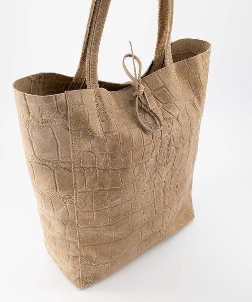 Mia - Croco - Shoulder bags - Taupe - 4 -