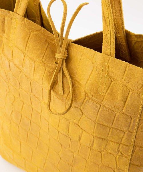 Mia - Croco - Shoulder bags - Yellow - 44 -