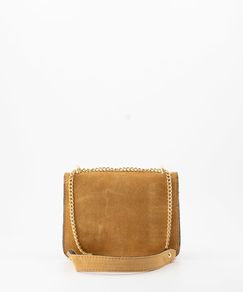 Yara - Suede - Crossbody bags - Brown - 6 - Gold