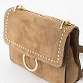 Yara - Suede - Crossbody bags - Taupe - 24 - Gold