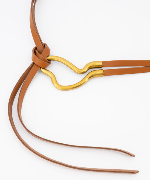 Aimee - Sauvage - Belts with buckles - Brown - Cognac - Gold
