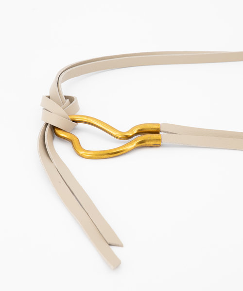 Aimee - Sauvage - Belts with buckles - Beige - Zand - Gold