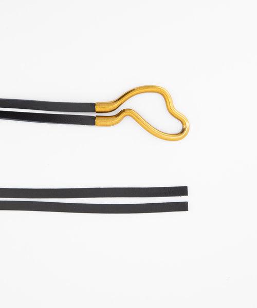 Aimee - Sauvage - Riemen met gesp - Zwart - Zwart - Goudkleurig