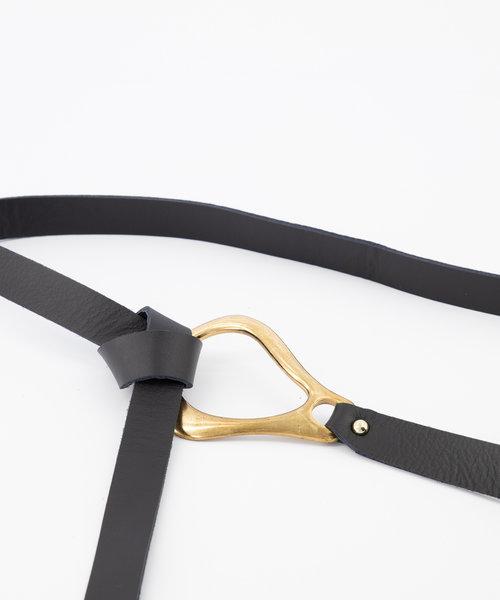 Sadie - Sauvage - Riemen met gesp - Zwart - Zwart - Goudkleurig