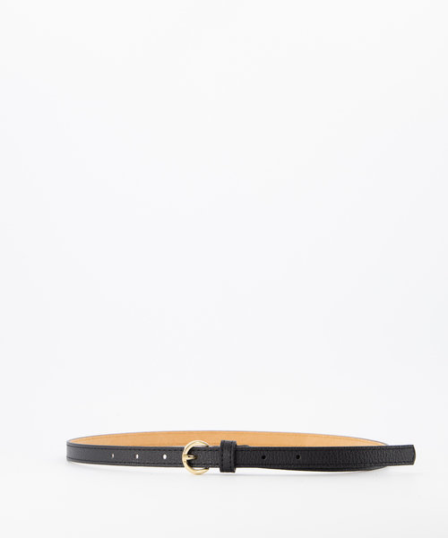 Layla - Classic Grain - Belts with buckles - Black - D28 - Gold