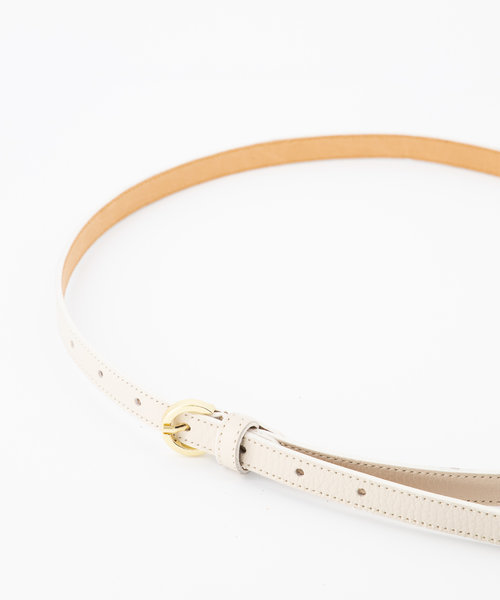 Layla - Classic Grain - Belts with buckles - White - D37 - Gold