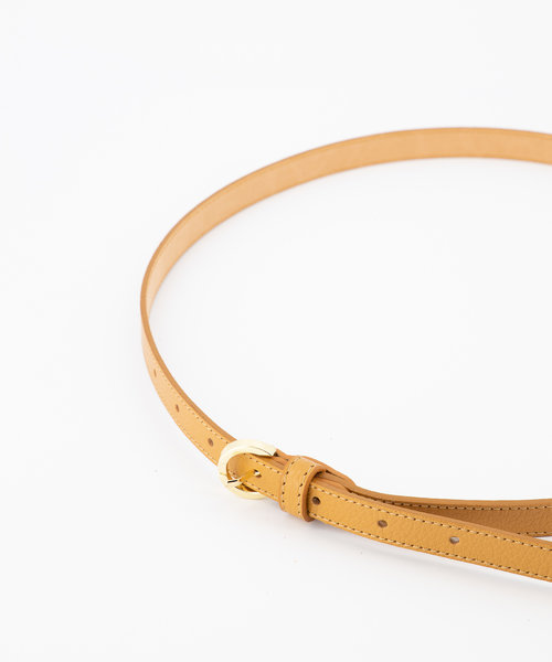 Layla - Classic Grain - Belts with buckles - Brown - D44 - Gold