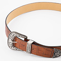 Roxy - Croco - Belts with buckles - Brown - Bruin - Silver