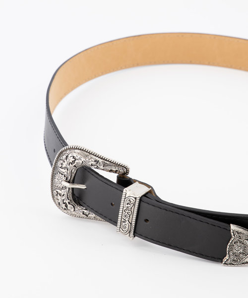 Roxy - Sauvage - Belts with buckles - Black - Zwart - Silver