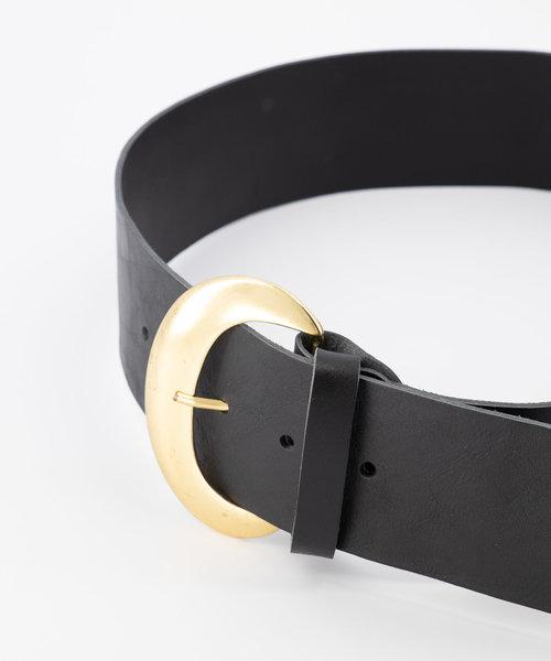 Milou - - Belts with buckles - Black - Zwart - Gold