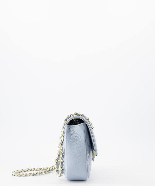 Sophia - Classic Grain - Handtassen - Blauw - D92 - Goudkleurig