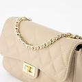 Sophia - Classic Grain - Hand bags - Taupe - D05 - Gold