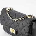 Sophia - Classic Grain - Hand bags - Black - D28 - Gold