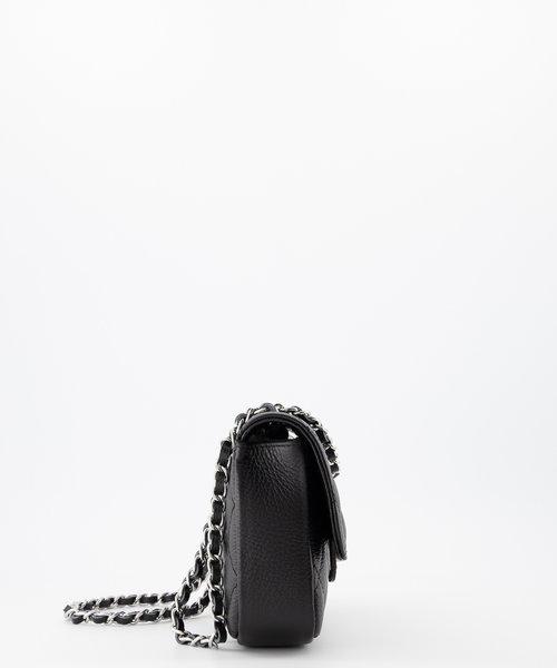 Sophia - Classic Grain - Handtassen - Zwart - D28 - Zilverkleurig