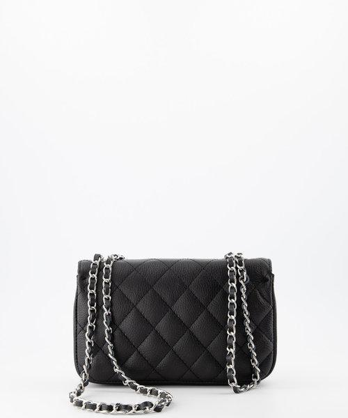 Sophia - Classic Grain - Hand bags - Black - D28 - Silver