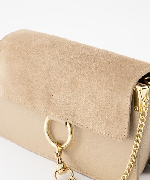 Carrie - Classic Grain - Crossbody bags - Taupe - D05 - Gold