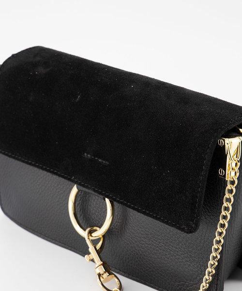 Carrie - Classic Grain - Crossbody bags - Black - D28 - Gold