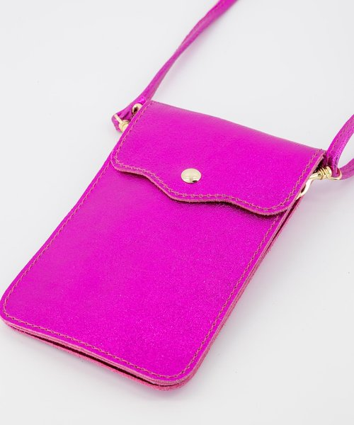 Nieuw Pona - Metallic - Crossbody bags - Pink - 22L - Gold