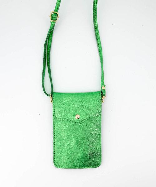 Pona - Metallic - Crossbody bags - Green - 26L - Gold