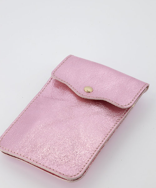 Pona - Metallic - Crossbody bags - Pink - 19L - Gold