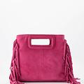 Sylvie - Suede - Crossbody bags - Pink - 16 - Silver
