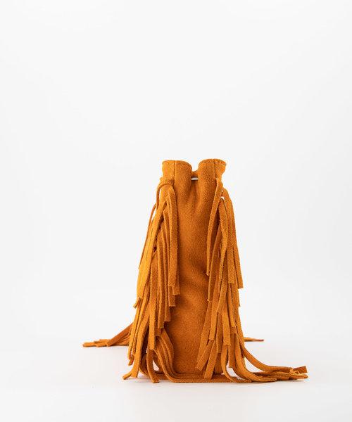 Sylvie - Suede - Crossbodytassen - Oranje - 13 - Zilverkleurig