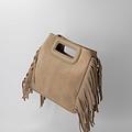 Sylvie - Suede - Crossbody bags - Beige - 4 - Silver