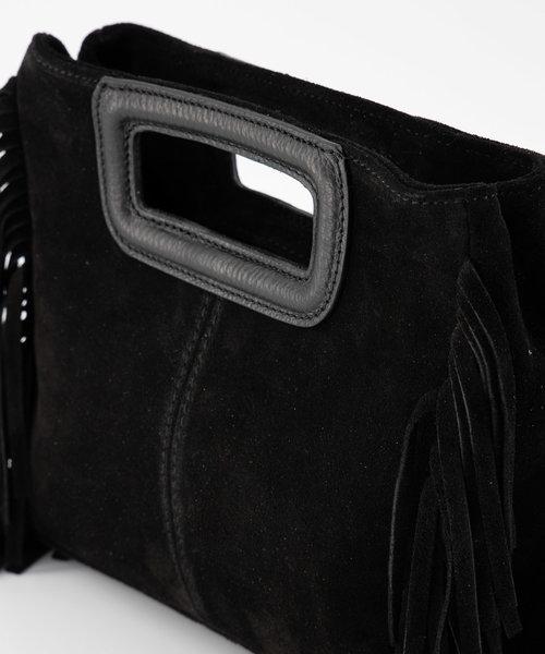 Sylvie - Suede - Crossbody bags - Black - 23 - Silver