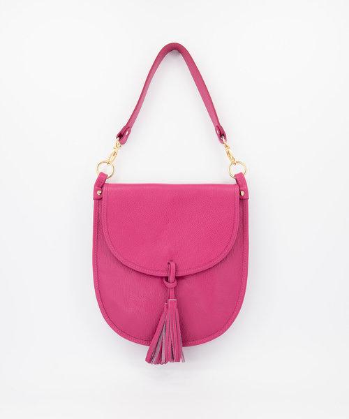 Meghan - Classic Grain - Crossbody bags - Pink - D02 - Gold