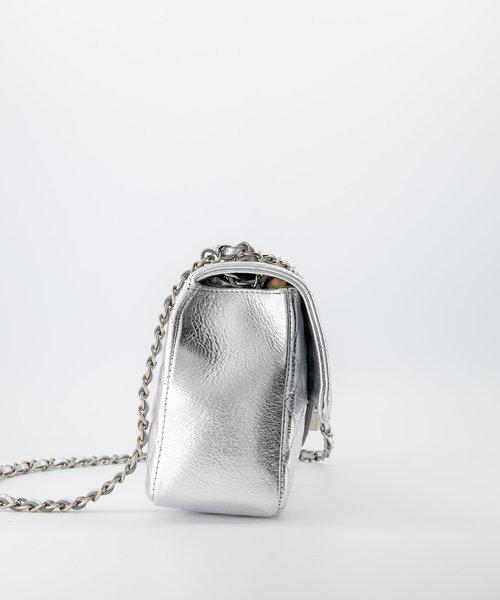 Audrey Medium - Sauvage - Crossbodytassen - - Zilver - Zilverkleurig