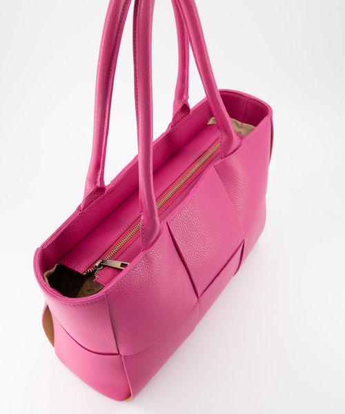 Sharon - Classic Grain - Shoulder bags - Pink - D02 - Bronze