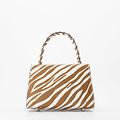 Fay - Classic Grain - Hand bags - Brown - Zebra - Silver