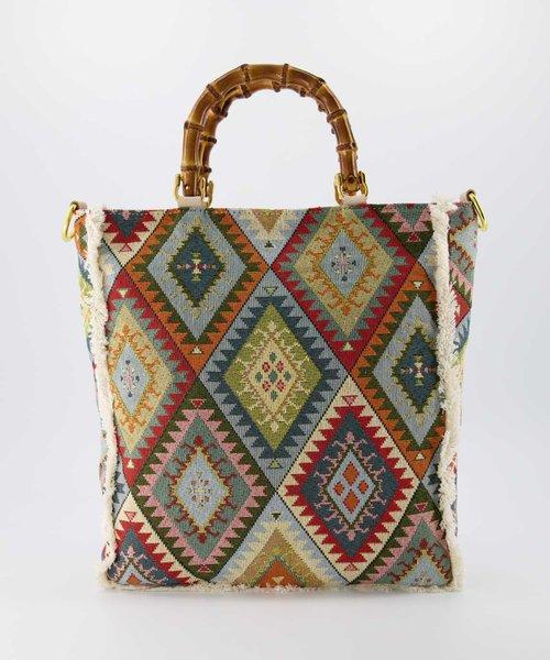 Amina - Sauvage - Handtassen - Aztec -  - Goudkleurig