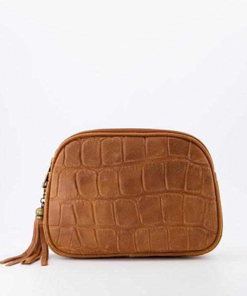 Nova - Croco - Crossbody bags - Cognac - 6 - Gold