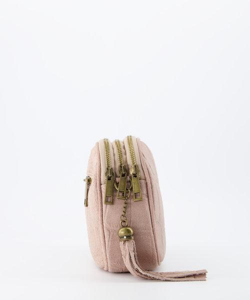 Nova - Croco - Crossbody bags - Pink - 43 - Gold