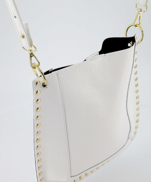 Charly - Classic Grain - Crossbody bags - White - D01 - Gold