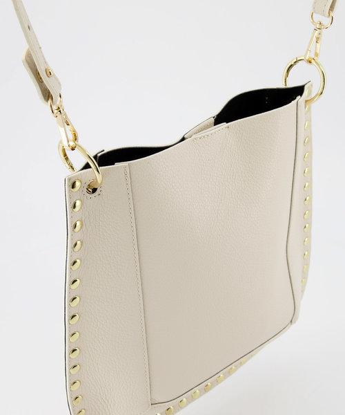 Charly - Classic Grain - Crossbody bags - Ecru - D37 - Gold