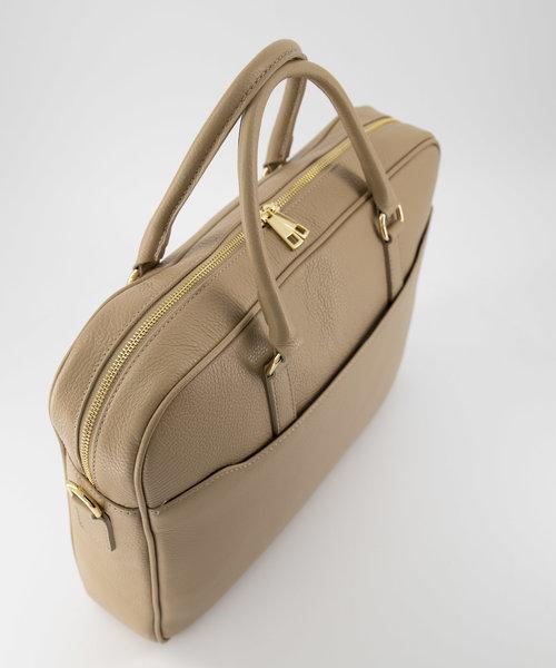 Hayden - Classic Grain - Laptop bags - Taupe - D05 - Gold